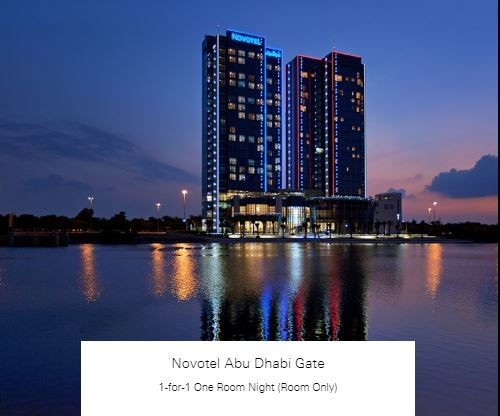 1-for-1 One Room Night (Room Only) at Novotel Abu Dhabi Gate