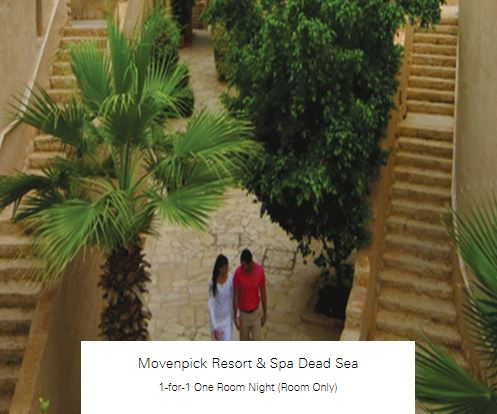 1-for-1 One Room Night (Room Only) at Movenpick Resort & Spa Dead Sea
