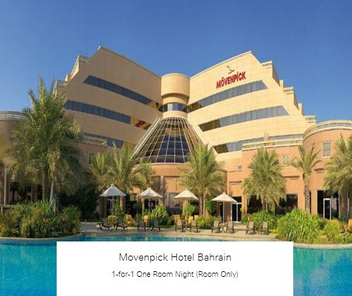 1-for-1 One Room Night (Room Only) at Movenpick Hotel Bahrain