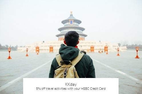 5% off travel activities with your HSBC Credit Card at KKday