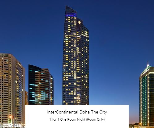 1-for-1 One Room Night (Room Only) at InterContinental Doha The City