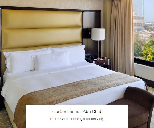 1-for-1 One Room Night (Room Only) at InterContinental Abu Dhabi
