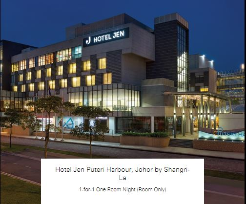 1-for-1 One Room Night (Room Only) at Hotel Jen Puteri Harbour, Johor by Shangri-La