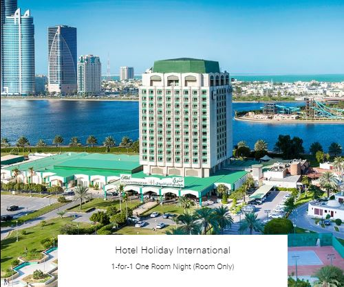 1-for-1 One Room Night (Room Only) at Hotel Holiday International