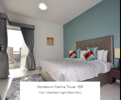 1-for-1 One Room Night (Room Only) at Hometown Marina Tower 1BR