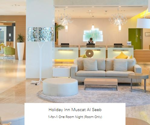 1-for-1 One Room Night (Room Only) at Holiday Inn Muscat Al Seeb