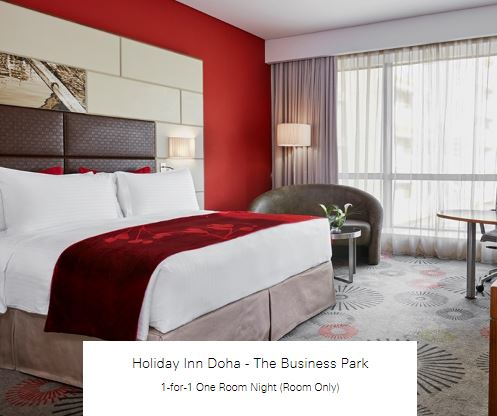 1-for-1 One Room Night (Room Only) at Holiday Inn Doha - The Business Park