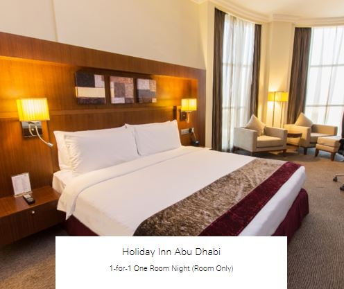1-for-1 One Room Night (Room Only) at Holiday Inn Abu Dhabi