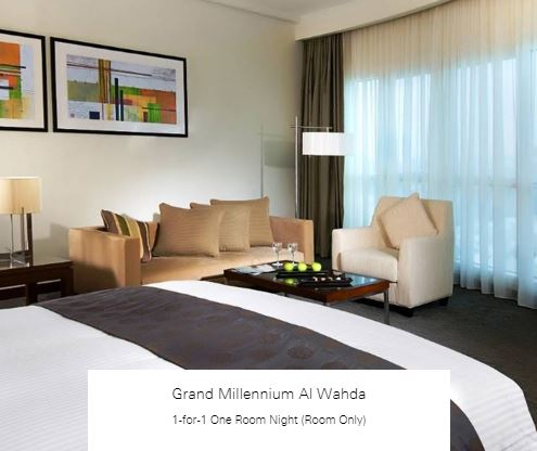 1-for-1 One Room Night (Room Only) at Grand Millennium Al Wahda