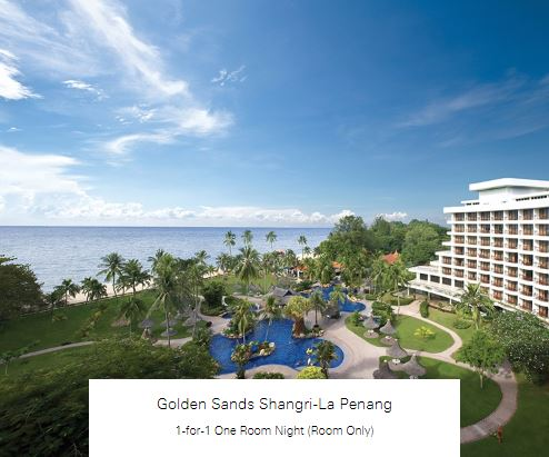 1-for-1 One Room Night (Room Only) at Golden Sands Shangri-La Penang