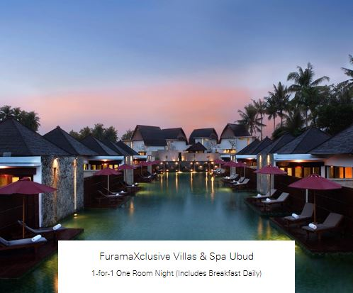 1-for-1 One Room Night (Includes Breakfast Daily) at FuramaXclusive Villas & Spa Ubud