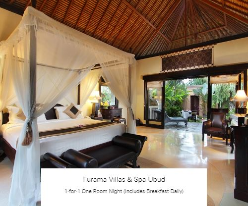 1-for-1 One Room Night (Includes Breakfast Daily) at Furama Villas & Spa Ubud