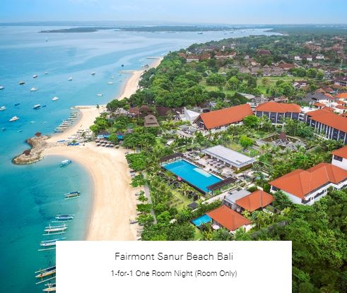 1-for-1 One Room Night (Room Only) at Fairmont Sanur Beach Bali