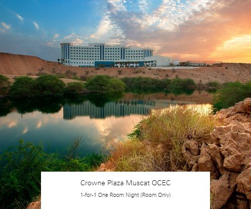 1-for-1 One Room Night (Room Only) at Crowne Plaza Muscat OCEC