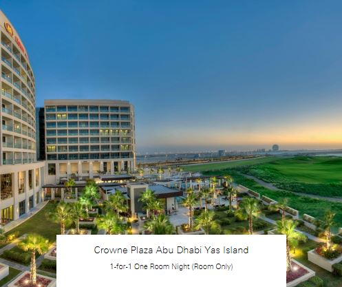 1-for-1 One Room Night (Room Only) at Crowne Plaza Abu Dhabi Yas Island