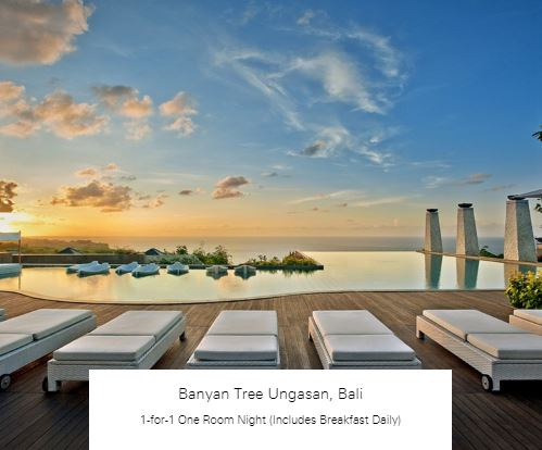 1-for-1 One Room Night (Includes Breakfast Daily) at Banyan Tree Ungasan, Bali