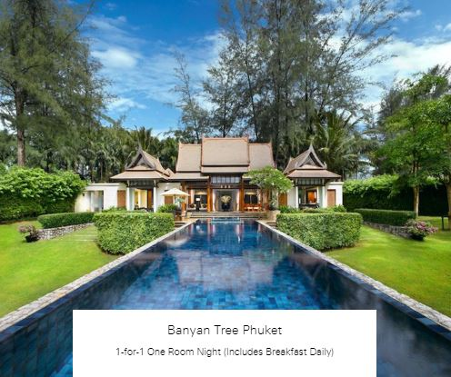 1-for-1 One Room Night (Includes Breakfast Daily) at Banyan Tree Phuket