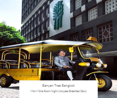 1-for-1 One Room Night (Includes Breakfast Daily) at Banyan Tree Bangkok