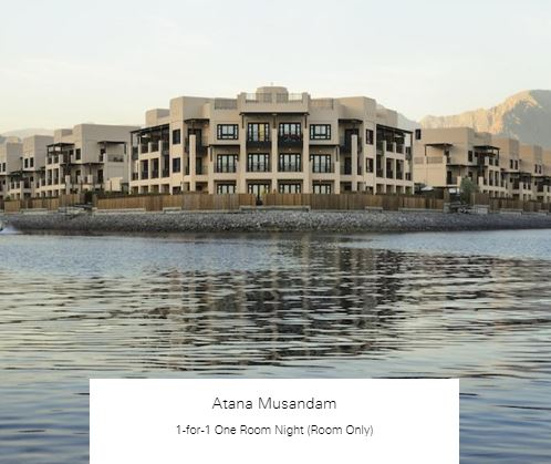 1-for-1 One Room Night (Room Only) at Atana Musandam