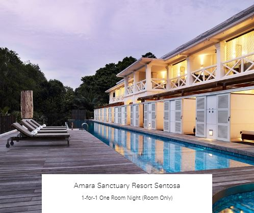 1-for-1 One Room Night (Room Only) at Amara Sanctuary Resort Sentosa