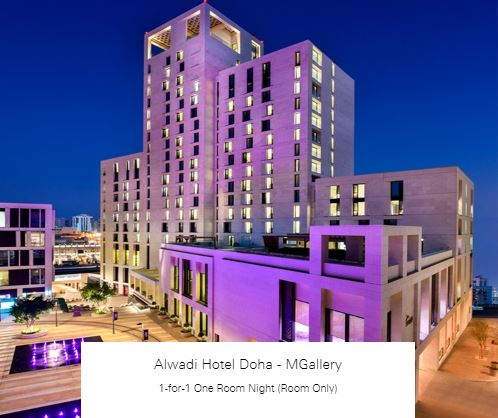 1-for-1 One Room Night (Room Only) at Alwadi Hotel Doha - MGallery