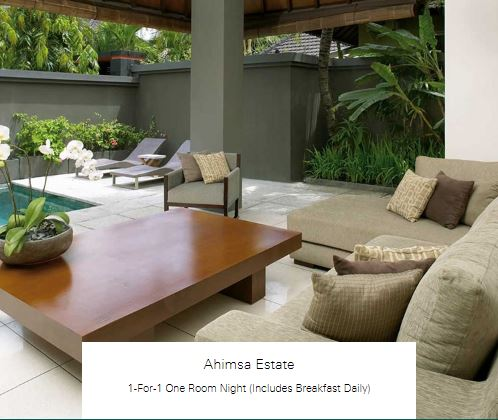 1-For-1 One Room Night (Includes Breakfast Daily) at Ahimsa Estate