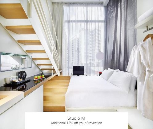 Additional 12% off your Staycation at Studio M