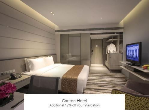 Additional 12% off your Staycation at Carlton Hotel