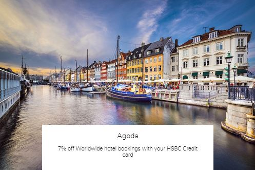 7% off Worldwide hotel bookings with your HSBC Credit card at Agoda