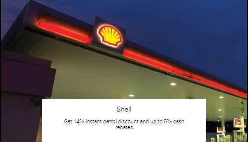 Get 14% instant petrol discount and up to 5% cash rebates at Shell