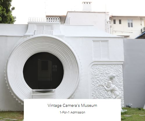 1-For-1 Admission at Vintage Camera's Museum