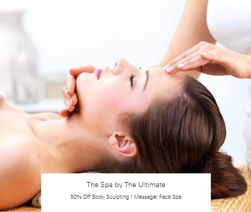 50% Off Body Sculpting / Massage/ Face Spa at The Spa by The Ultimate