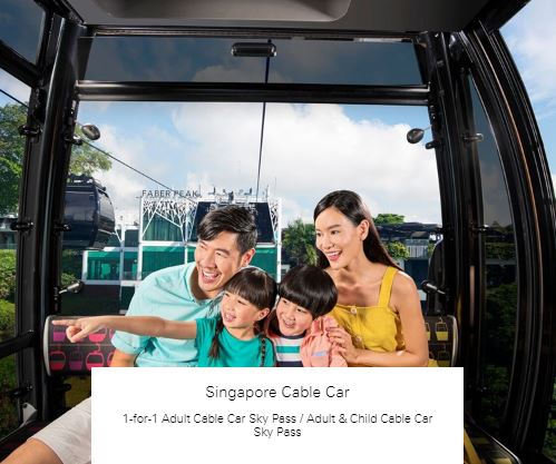 1-for-1 Adult Cable Car Sky Pass / Adult & Child Cable Car Sky Pass at Singapore Cable Car