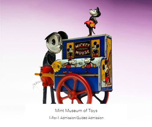 1-For-1 Admission/Guided Admission at Mint Museum of Toys