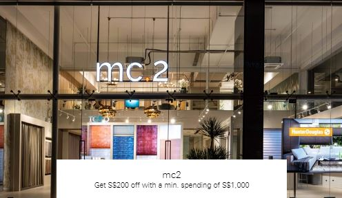 Get S$200 off with a min. spending of S$1,000 at mc2