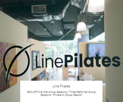 50% Off Five Mat Group Sessions / Three Reformer Group Sessions / Private or Group Session at Line Pilates