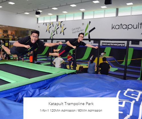 1-for-1 120Min Admission / 60Min Admission at Katapult Trampoline Park