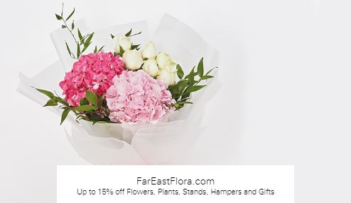 Up to 15% off Flowers, Plants, Stands, Hampers and Gifts at FarEastFlora.com