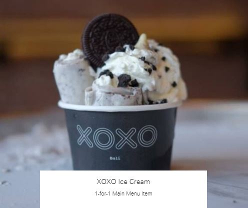 1-for-1 Main Menu Item at XOXO Ice Cream