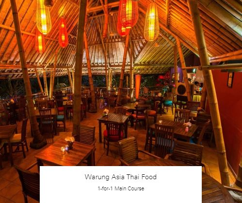 1-for-1 Main Course at Warung Asia Thai Food