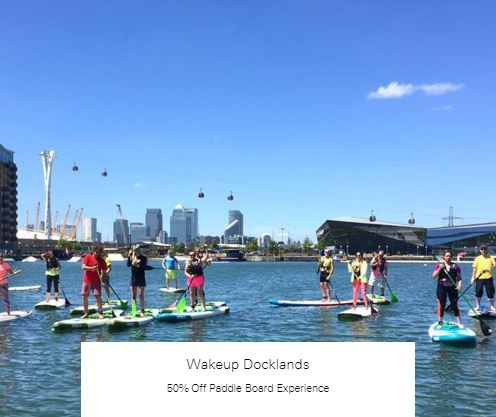50% Off Paddle Board Experience at Wakeup Docklands