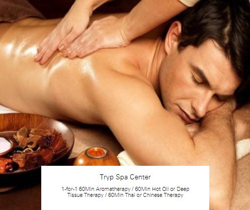 1-for-1 60Min Aromatherapy at Tryp Spa Center