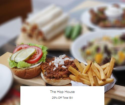 25% Off Total Bill at The Hop House