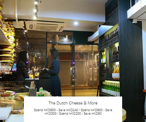 Spend HKD800 - Save HKD240 at The Dutch Cheese & More