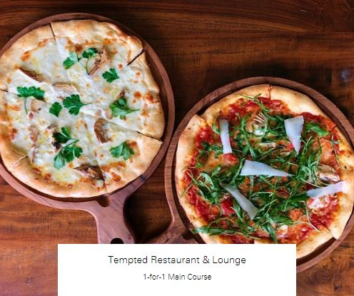 1-for-1 Main Course at Tempted Restaurant & Lounge