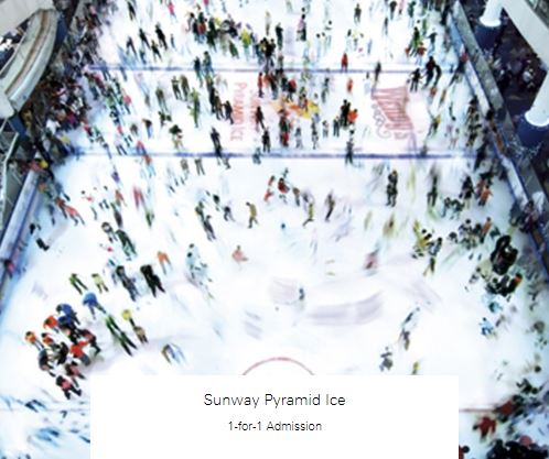 1-for-1 Admission at Sunway Pyramid Ice