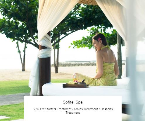 50% Off Starters Treatment at Sofitel Spa