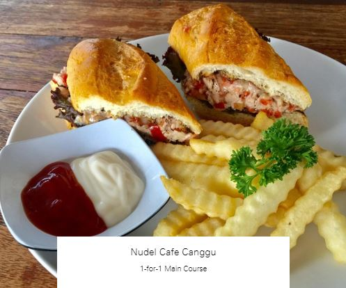 1-for-1 Main Course at Nudel Cafe Canggu