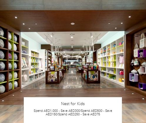Spend AED250 - Save AED75 at Nest for Kids