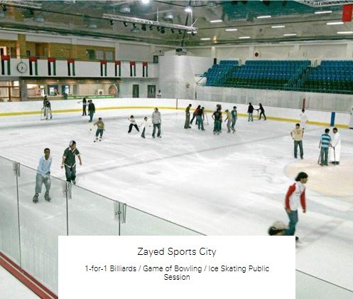 1-for-1 Ice Skating Public Session at Zayed Sports City